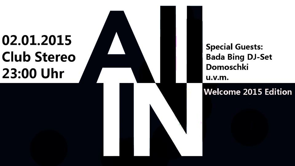 All In – Welcome 2015!